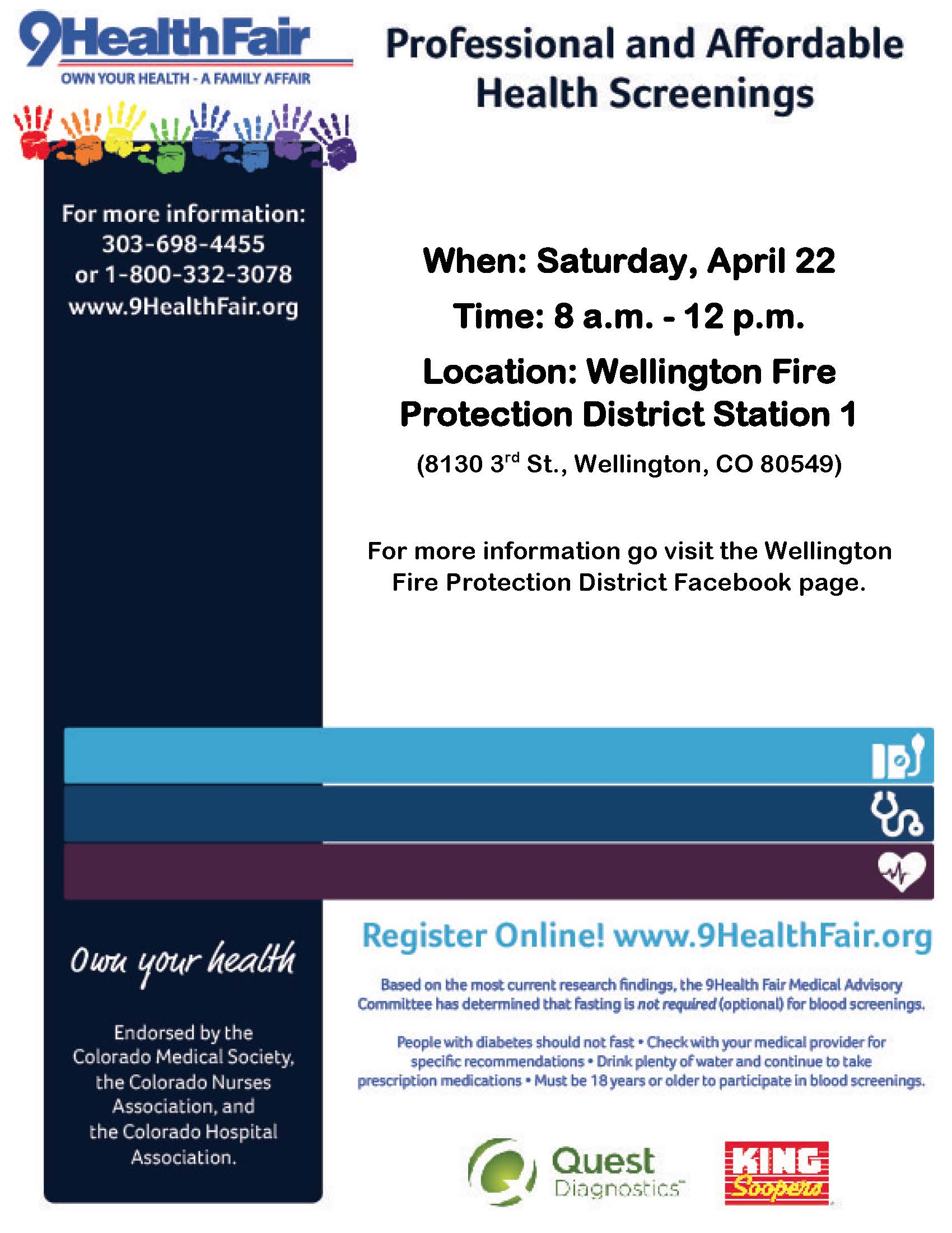 WFPD 9Health Fair Flyer