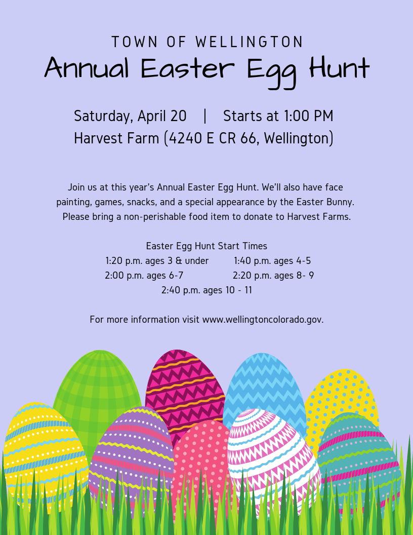 Town Of Wellington Easter Egg Hunt