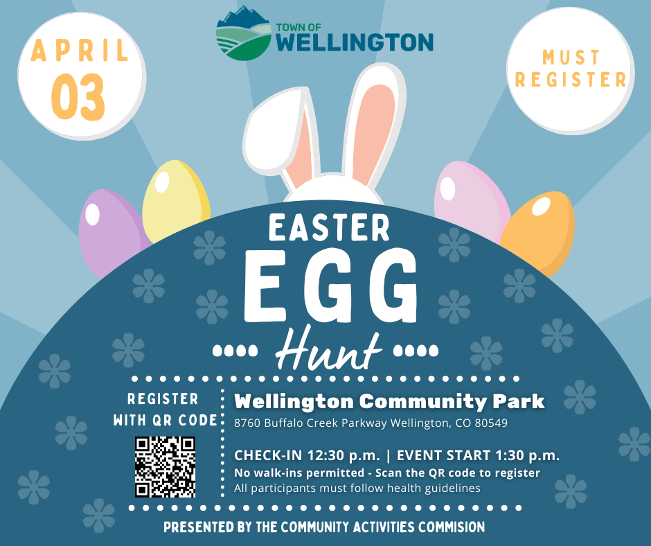 Easter Egg Hunt April 3, 2021. Register by April 2